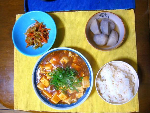 麻婆豆腐定食風・・・