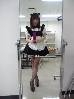 写真: ワンフェス。メイド服を着ました。