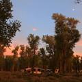 夕暮れのキャンプグラウンドとハーフムーン♪
