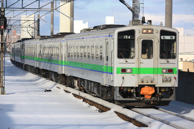 キハ143形キハ143-154 普通札幌行き