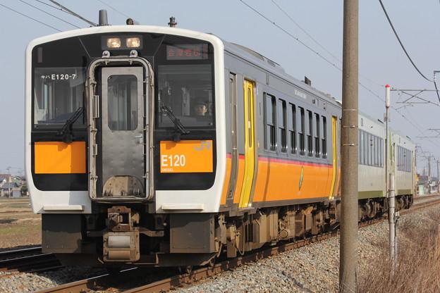 キハE120形キハE120-7 快速あがの会津若松行き
