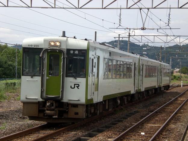 キハ110形200番台キハ110-201 普通会津若松行き
