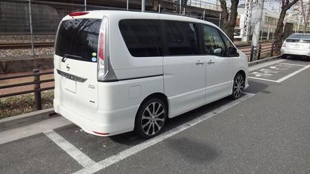 白線枠内駐車例