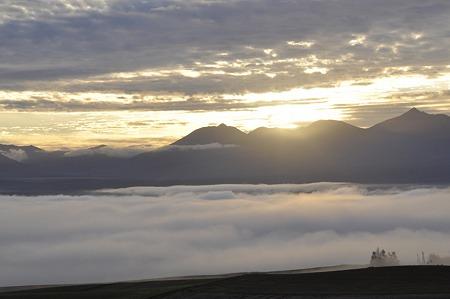オプタテシケ付近からの日の出(2)