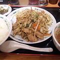Photos: 久しぶりにそば以外の食べた。日高屋の肉野菜炒め定食。こんなに食べ...