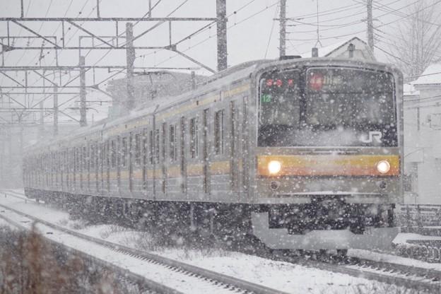 雪の中でも快速運転 !