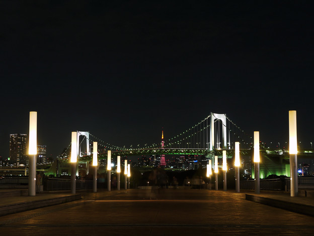 東京タワーに続く、プロムナード。