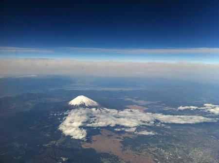 空から見た富士山