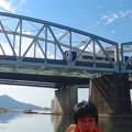 犬山遊覧船 2014 秋 No - 79:名鉄各務原線の鉄橋を走るミュースカイ