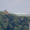 写真: 木曽川河川敷から見えた犬山成田山