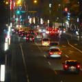 写真: 夜の星ヶ丘西交差点