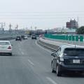 写真: 高速バスの車内から見た、東名高速(小牧JCT~小牧IC間) - 6