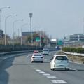 写真: 東名高速:一定間隔で並ぶ照明 - 3