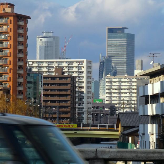 写真: 住吉橋から見た名駅ビル群 - 2
