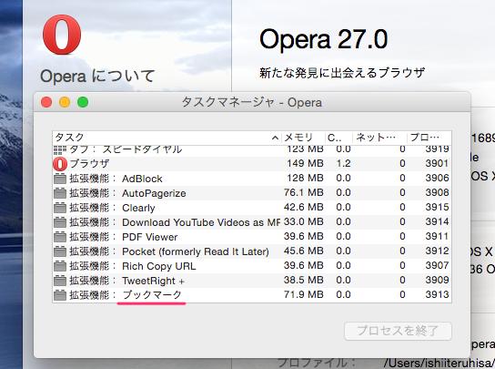 Photos: Opera 27:ブックマークは、拡張機能で実現?! - 2