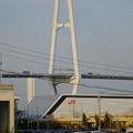 写真: リニア鉄道館越しに見た「名港中央大橋」 - 2