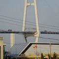 リニア鉄道館越しに見た「名港中央大橋」 - 3