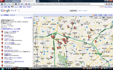 小牧市Twitterマップ
