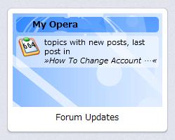 Operaスピードダイヤル・エクステンション:Forum Updates Speed Dial