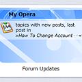 写真: Operaスピードダイヤル・エクステンション:Forum Updates Speed Dial