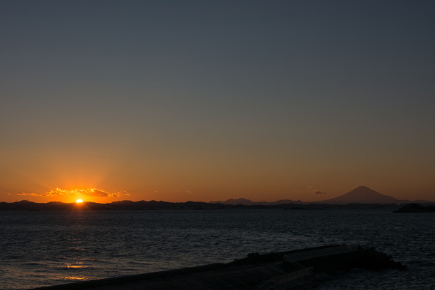 Photos: 夕日と富士山