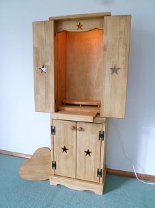 スリム仏壇 スライドテーブル付き