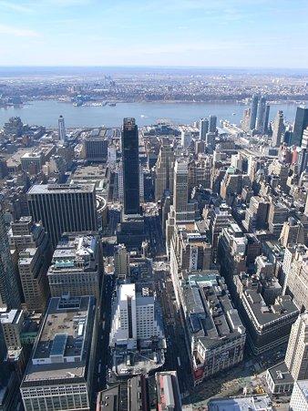 27日 NY-Manhattan the Empire State Building の展望台から