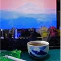 富士山で一服
