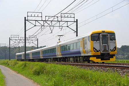 E257系500番代@物井駅-佐倉駅[8/23]