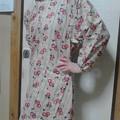 写真: 近所の奥さまが縫って下さいました。朝顔柄パワーでもうちょっと早起き出来るかも~。