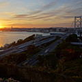 Photos: 夕焼けの関門橋