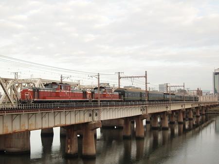 DD51 トワイライトエクスプレス東海道本線新大阪~大阪02