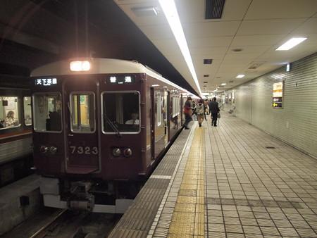 阪急7300系普通 堺筋線日本橋駅01