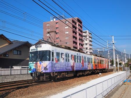 京阪600形ちはやふるラッピング 近江神宮~皇子山