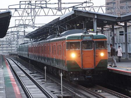 113系湘南色  湖西線大津京駅01