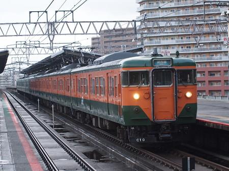 113系湘南色  湖西線大津京駅02