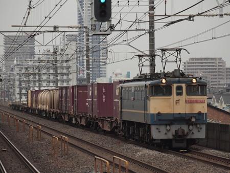 EF65貨物 総武本線下総中山駅