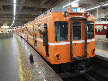 近鉄6020系ラビットカー普通 近鉄南大阪線阿部野橋01