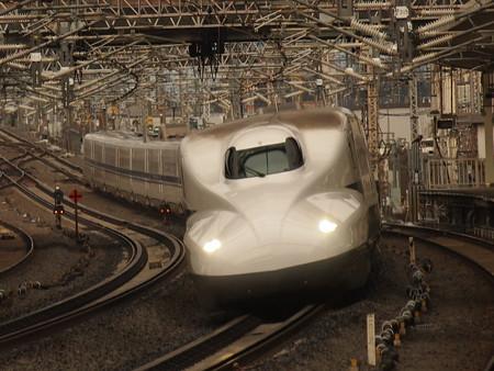 N700系のぞみ 東海道新幹線米原駅02