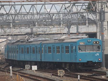 103系日根野車普通 奈良線京都駅02