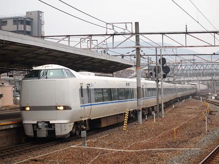 683系特急サンダーバード 東海道本線京都駅02