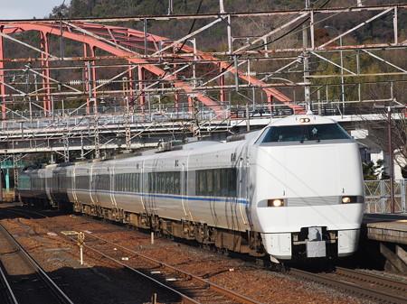 683系特急サンダーバード 東海道本線彦根駅