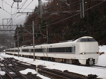683系特急しらさぎ  北陸本線近江塩津駅02