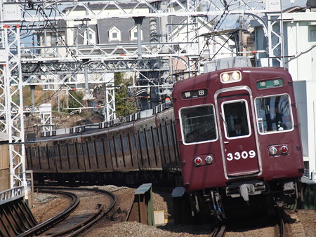 阪急3300系準急 阪急京都線大山崎駅