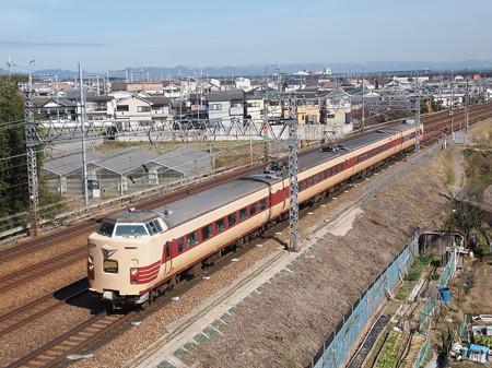 381系国鉄色回送 東海道本線長岡京~山崎