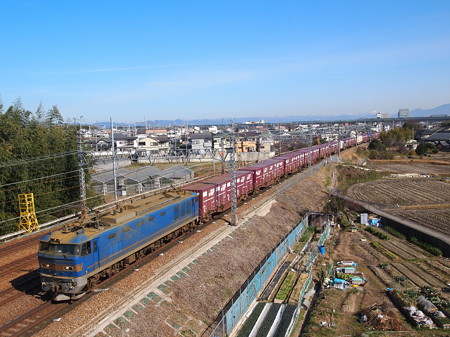 EF510貨物 東海道本線長岡京~山崎