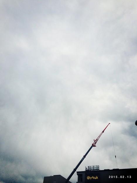 強風でクレーンも自分も倒れそう~You&I Cloud