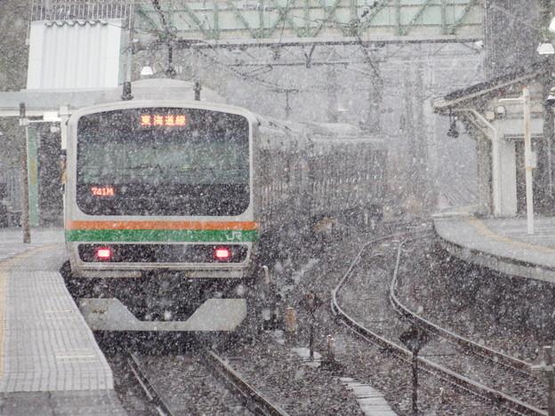 雪の東海道