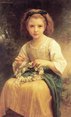 William Adolphe Bouguereau_Child Braiding A Crown