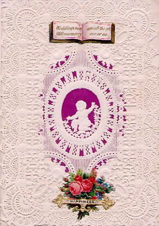 バレンタインデーカード 1850年 from WIKIPEDIA